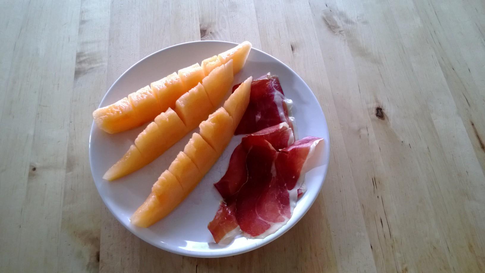 @Paradisosdelsol melon with spanish serrano ham